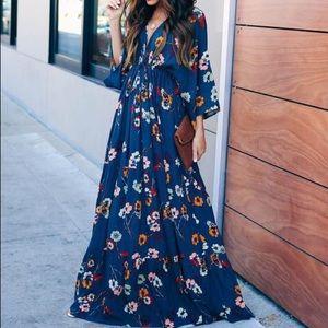 VICI maxi kimono blossom dress